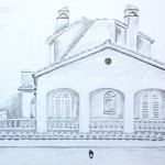 Spanish villa drawing