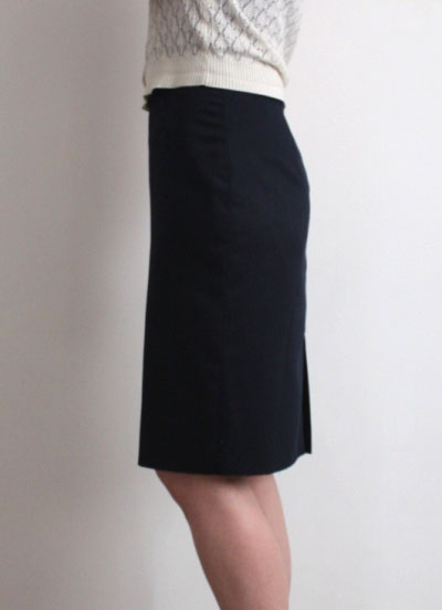 pencil skirt side