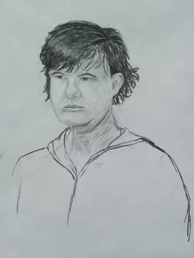 Drawing from first portraits class