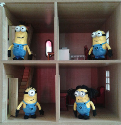 Minions in dolls house