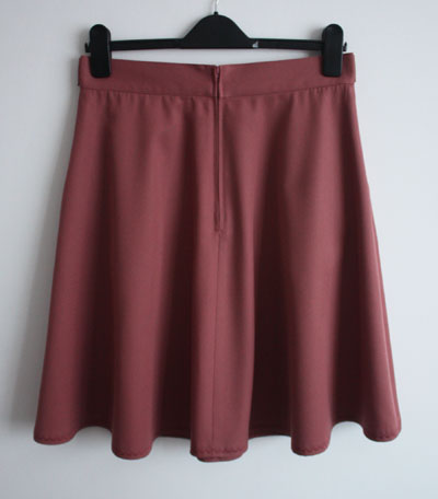 Sewaholic Hollyburn skirt back with centred zip