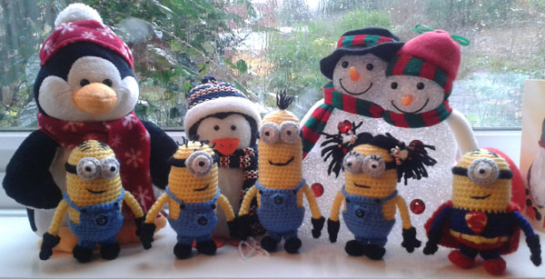 Minions and Christmas friends