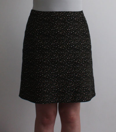 Needlecord A line skirt