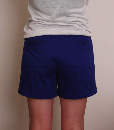 Blue Thurlow shorts back view