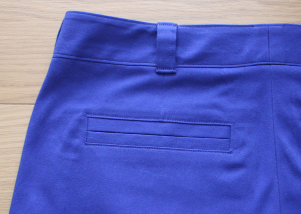 Blue Thurlow shorts welt pocket