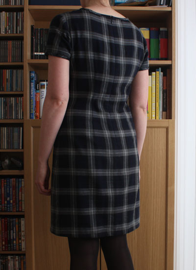 Plaid Laurel dress back