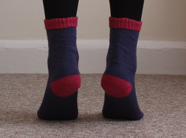 knitted cuff down socks