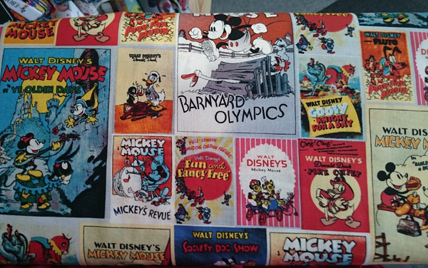 Mickey films fabric