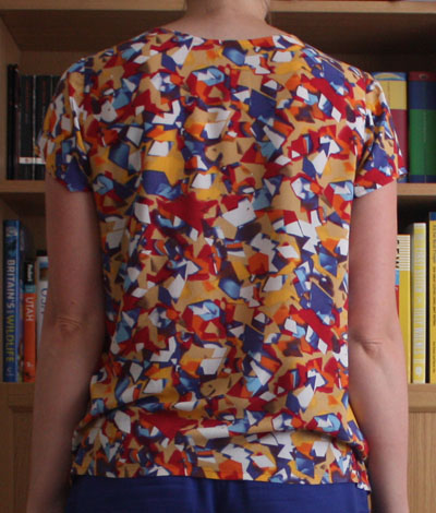 Grainline Scout Tee back view