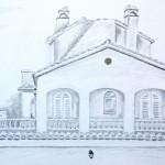 Spanish villa drawing