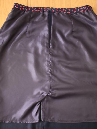 pencil skirt lining