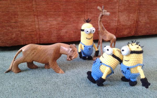 Crochet minions meet some animals