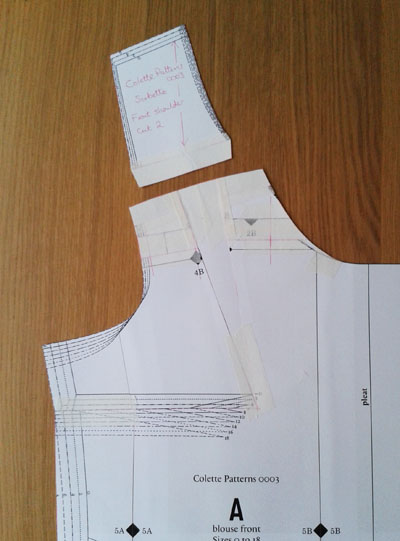 Final front pattern pieces