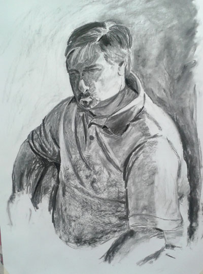 First drawing from third portraits class