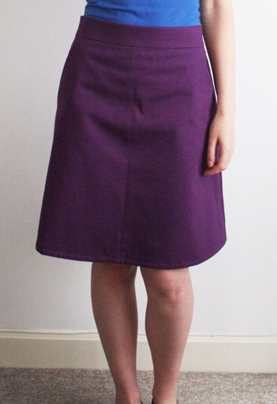 Purple Ginger skirt front view