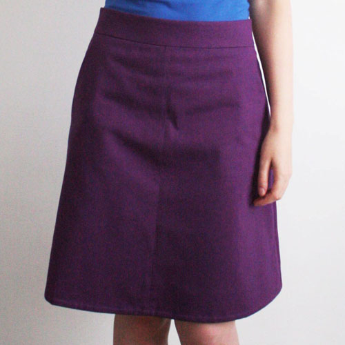 Purple Colette Ginger skirt with pockets