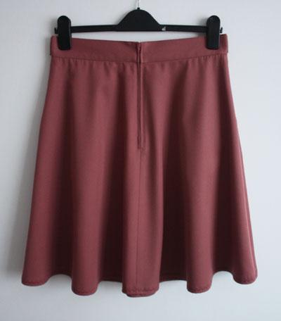 Sewaholic Hollyburn skirt back with centred zip