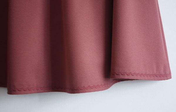 Sewaholic Hollyburn skirt hem with decorative stitching