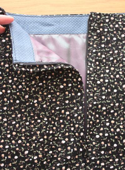 Lapped zip detail