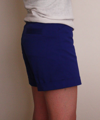 Blue Thurlow shorts side view