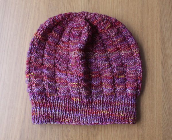 Knitted hat flat