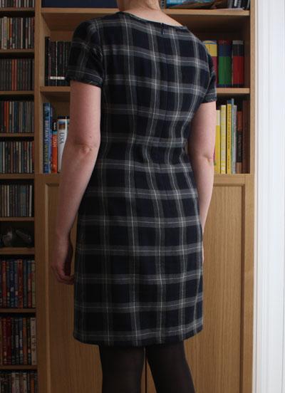 Plaid Laurel dress back