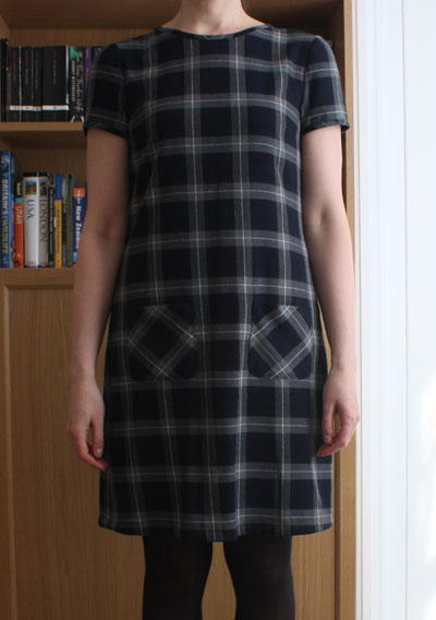 Plaid Laurel dress front