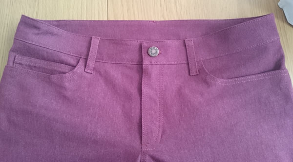 Ginger jeans front topstitching