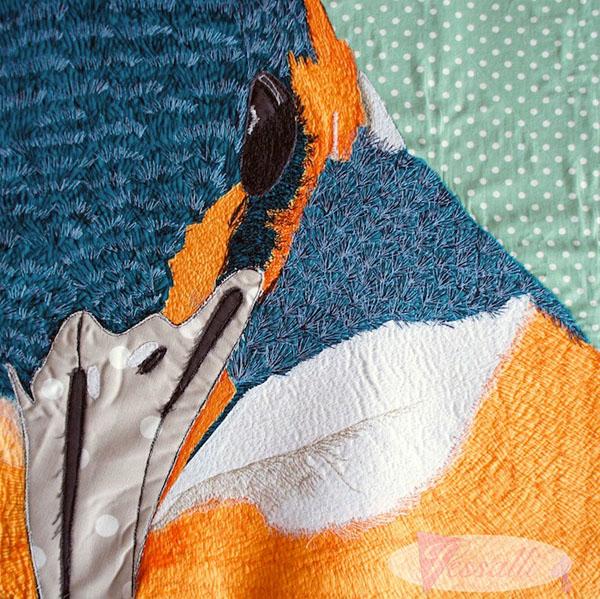 Jessalli kingfisher cushion