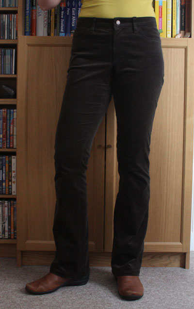 cord bootcut ginger jeans